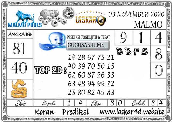 Prediksi Togel MALMO LASKAR4D 03 NOVEMBER 2020
