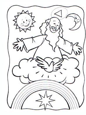 Dibujo Infantil De Dios Para Colorear Dibujos Infantiles Imagenes