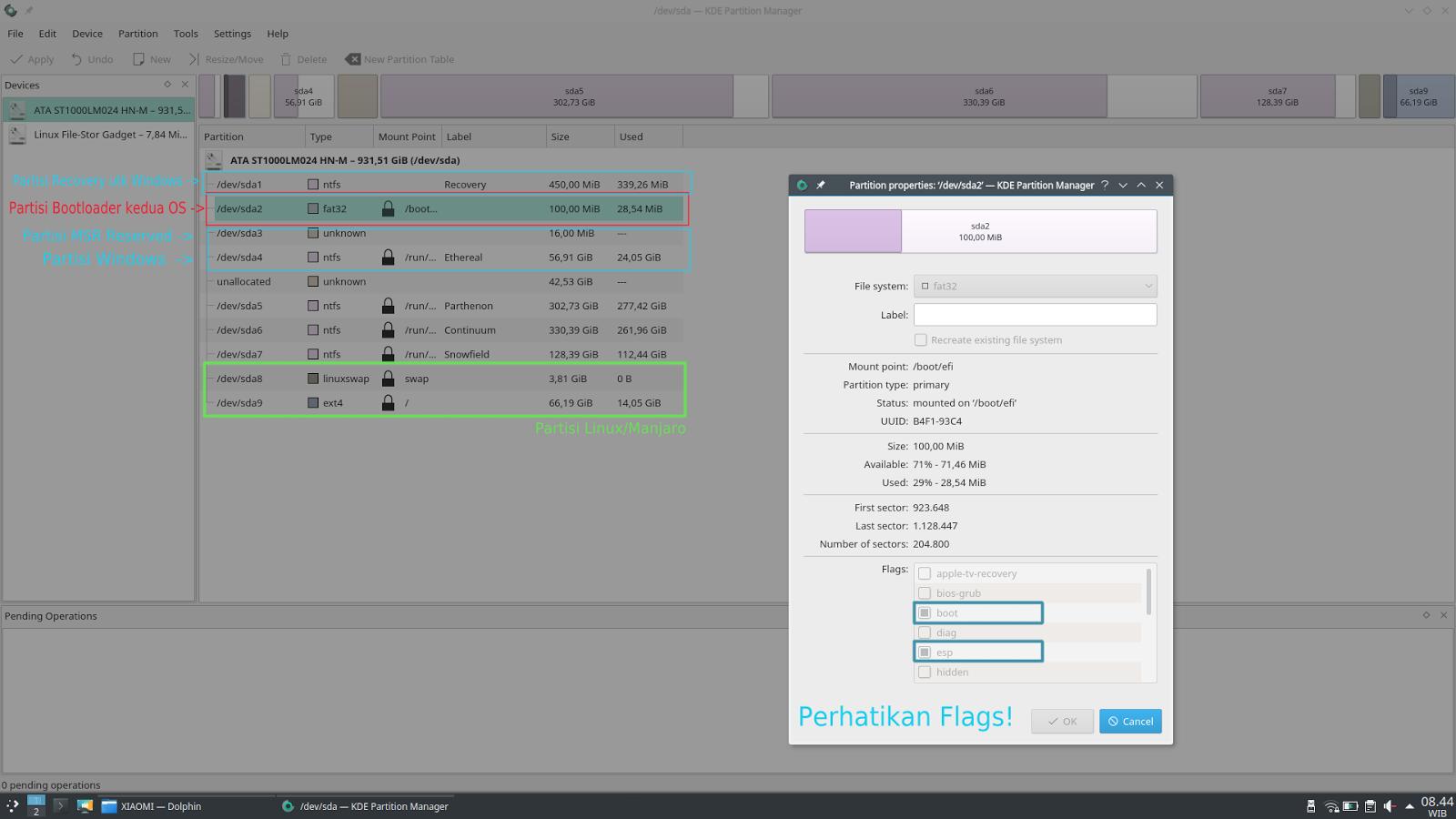 Tips Dual Boot Manjaro 17 0 1 Gellivara dengan Windows 10 (GPT/MBR