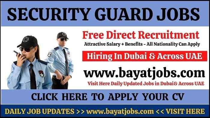 Security Guard Jobs in Dubai & Across UAE 2020