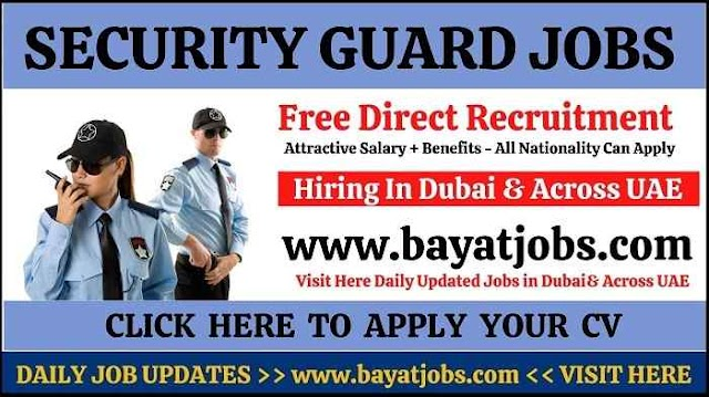 Security Guard Jobs in Dubai & Across UAE 2020