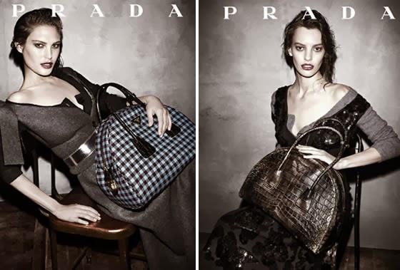 8d9a7fab2681 Prada gingham jacquard and vintage calf leather top-handle bag