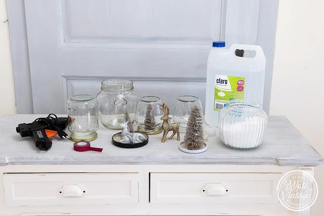 Material für DIY-Schneekugeln