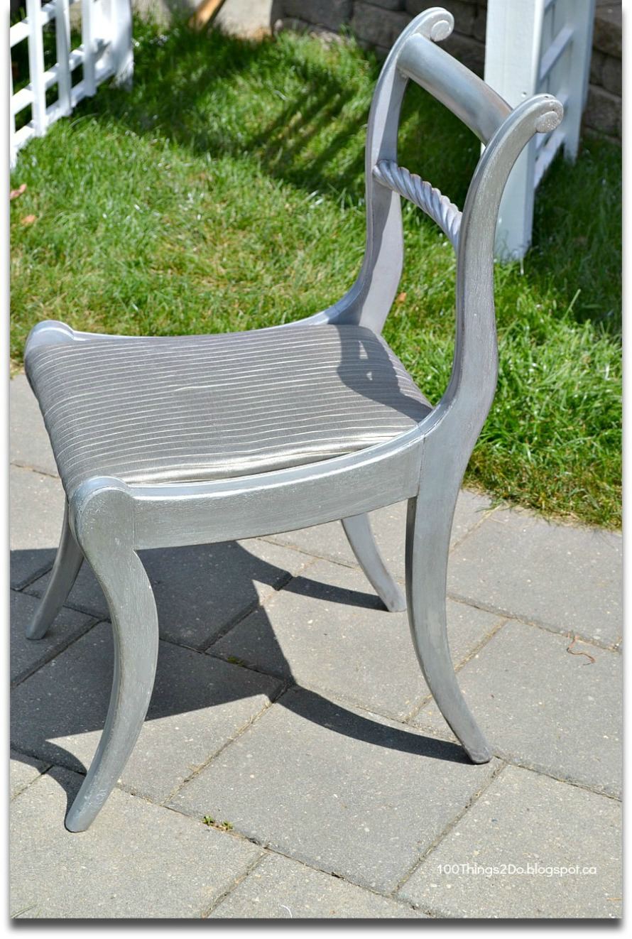Before and After - Antique Silver Chair - 100 Things 2 Do