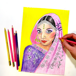 Indian Girl Printable Coloring Page