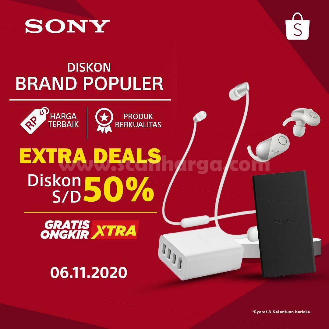 SONY Promo Extra Deals Diskon hingga 60% + Gratis Ongkir