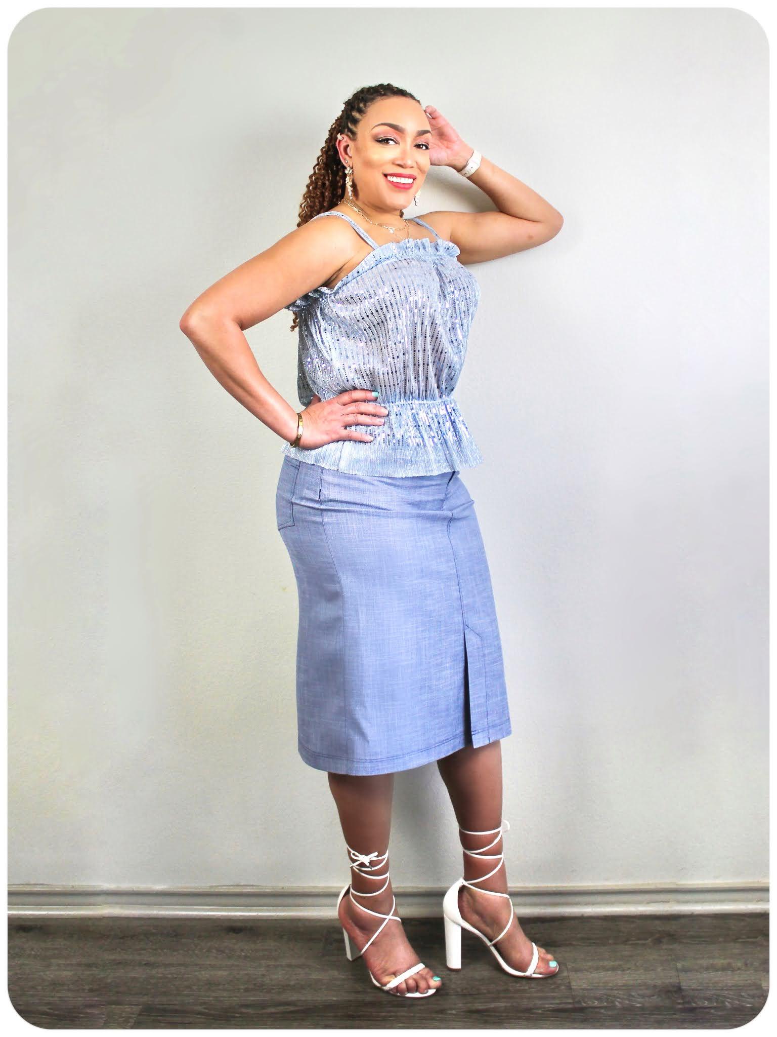 McCall's 8217 Top & McCallss 8149 Skirt - Erica Bunker DIY Style x Zelouf Fabrics