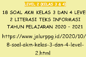 18 Soal AKM Kelas 3 dan 4 Level 2 Literasi Teks Informasi Tahun Pelajaran 2020 - 2021