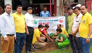 लायंस क्लब गोमती के पदाधिकारियों ने किया पौधरोपण | #NayaSaberaNetwork