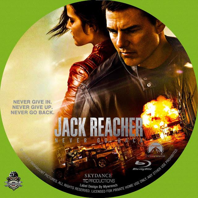 Jack Reacher Never Go Back Bluray Label