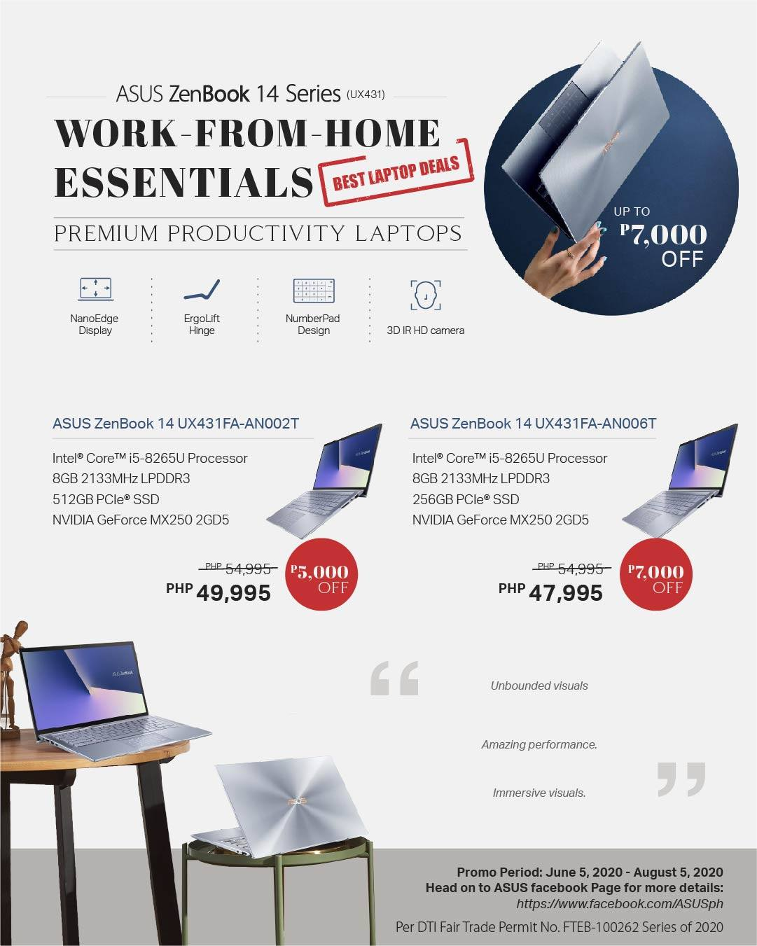 asus laptop promo discounts 2020