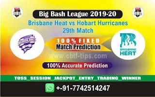 Dream11 Prediction Brisbane Heat v Hobart Hurricanes