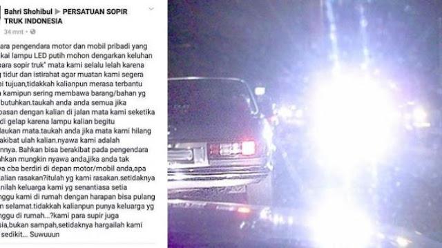 Curhatan Supir Truk Untuk Pengguna Motor dan Mobil Pribadi Ini Jadi Viral di Media Sosial