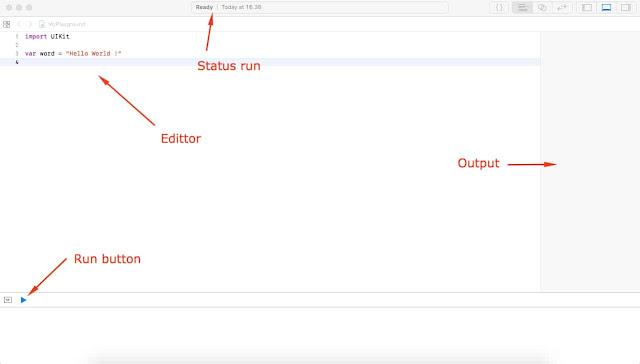 XCode playground edittor