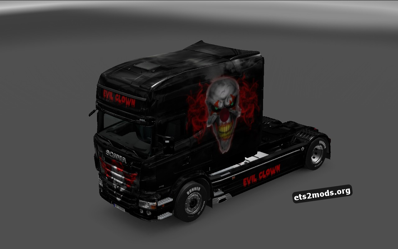 Scania RJL Evil Clown Skin