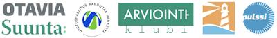 Hankelogot: Otavia, Suunta, Arviointiklubi, Sykettä arviointiin, Pulssi sekä Opetushallitus rahoittaa hanketta -symboli.