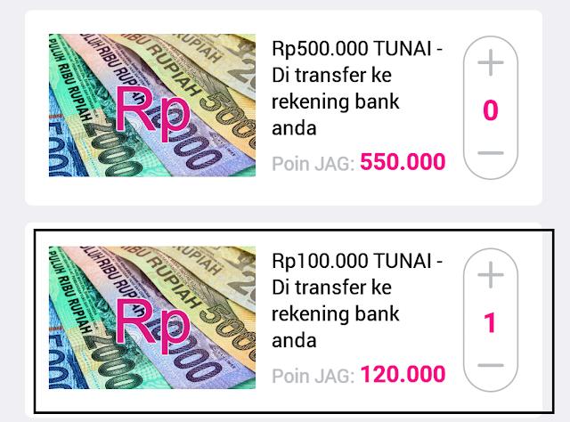 Cara Mencairkan Uang Gratis dari Aplikasi JAG Android