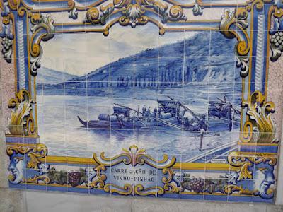 azulejos da estação de trem do Pinhão