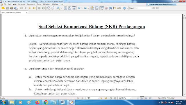 Download contoh soal pppk skb perdagangan dan kunci jawaban