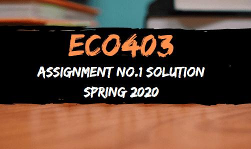 ECO403