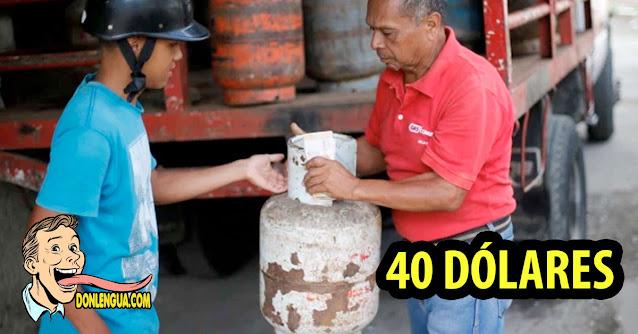 Bombona mediana de Gas ya vale 40 Dólares en Venezuela