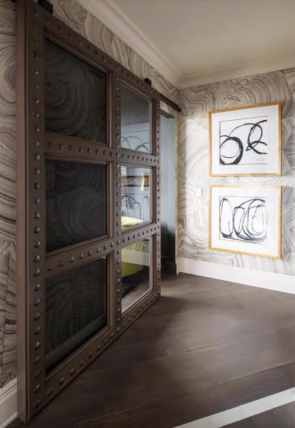 The Doors Are Located Off Main Hallway And Were Custom Designed By Anthony Add Cohesion To Other Framed Antique They Enclose A