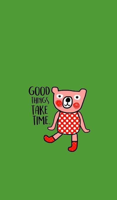 Happy Polka Bear by Kukoy