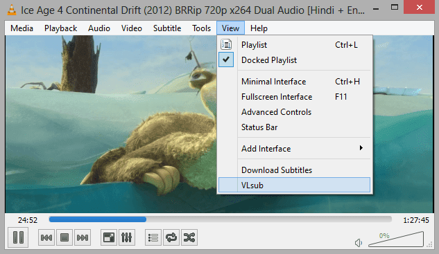 Download Subtitles Automatically in VLC Media Player