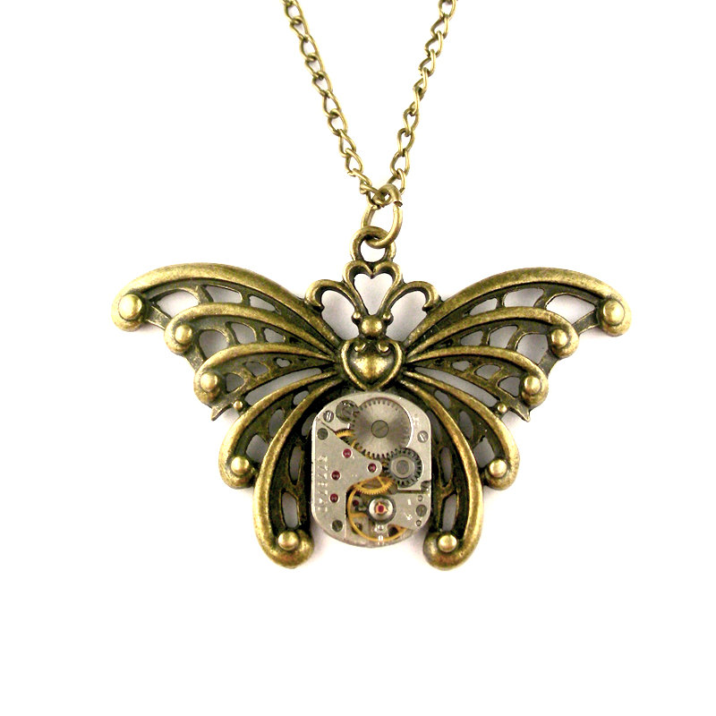 22-Vintage-Watch-Butterfly-Necklace-Nicholas-Hrabowski-Steampunk-Jewelry-from-Recycled-Watches-and-Bullets-www-designstack-co