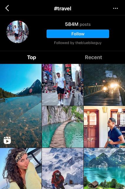 Trending travel hashtags for Instagram