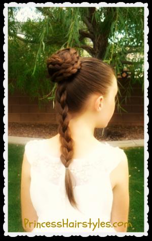 Princess Leia Hairstyle Spiral Braid Bun Star Wars Inspired