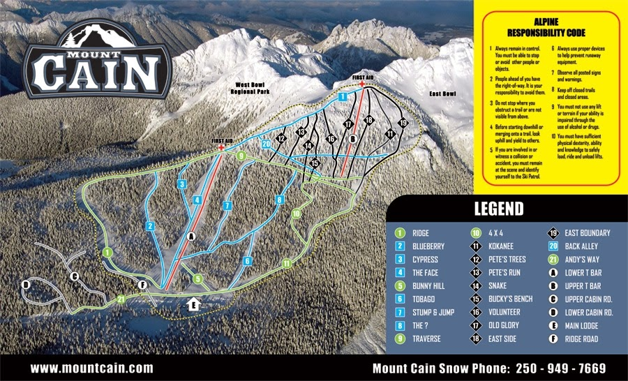 Mt. Cain Ski Area, British Columbia - Where is the Best Place for Skiing And Snowboarding in Canada