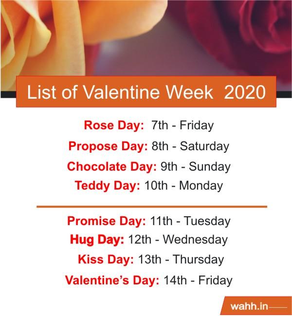 List-of-Valentine-Week-2020
