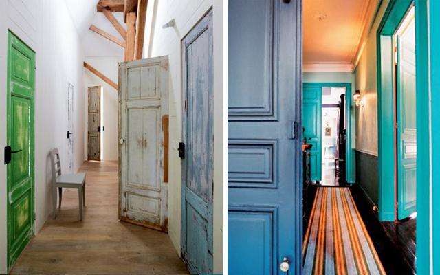 Marzua c mo decorar pasillos con las puertas for Pintar puertas interiores