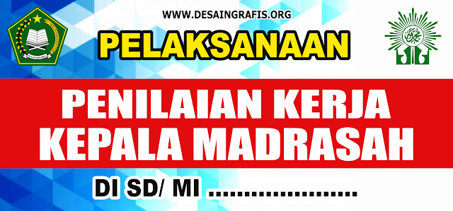 Banner PKKS/PKKM (Penilaian Kinerja Kepala Sekolah/Madrasah) cdr