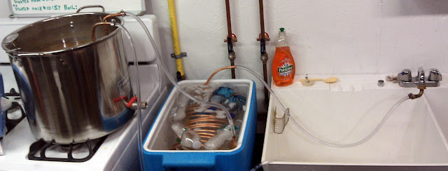 wort chiller- pre chill set up
