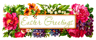 easter greeting digital wildflowers