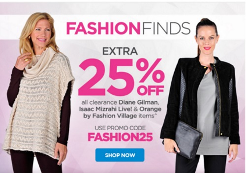 The Shopping Channel Extra 25% Off Clearance Fashion Promo Code