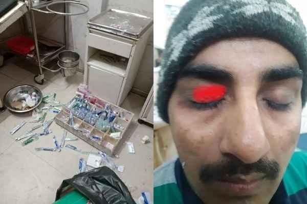 faridabad-bk-civil-hospital-patient-relatives-beat-staff-17-january-20