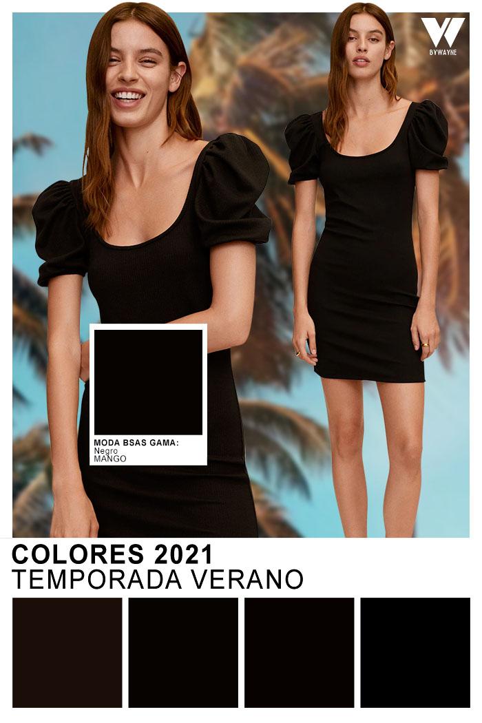 Colores de moda primavera verano 2021 Negro