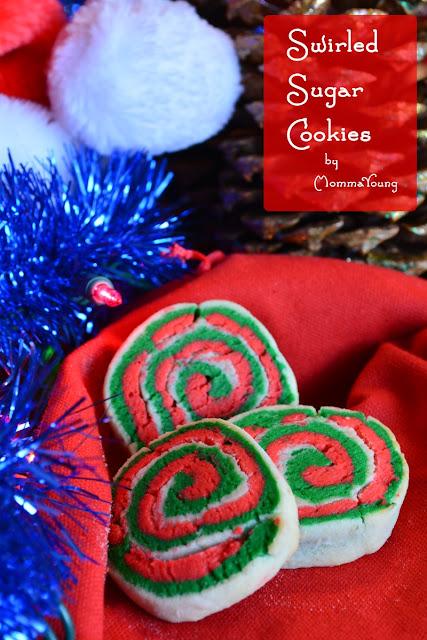 Red Green Swirled Sugar Cookies