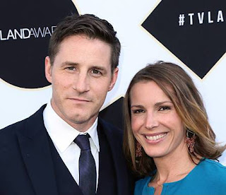 Actress, Amber Jaeger with her husband Sam Jaeger