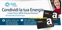 Logo #CondividiLaTuaEnergia e vinci buoni Amazon da 50€ e 200€