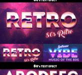 PSD 80s Text Effects Photoshop