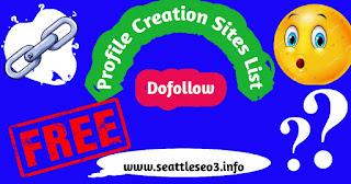 Profie Creation Sites List