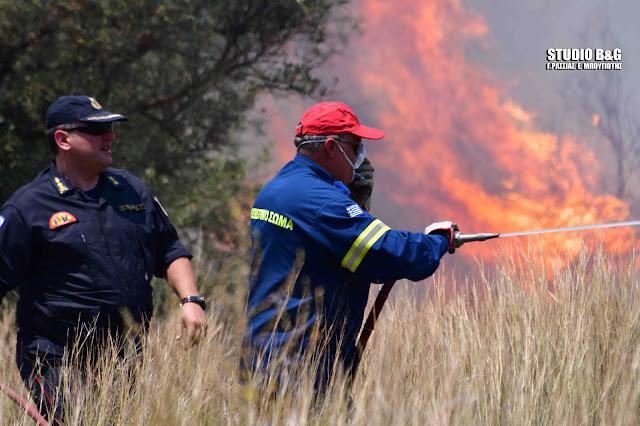 Τι λέει ο Διοικητής της Πυροσβεστικής για την φωτιά στο Ναύπλιο (βίντεο)