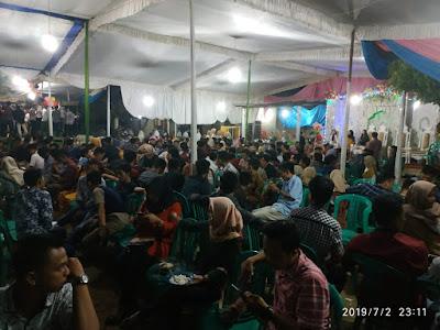 Ribuan Muli Meghanai Meriahkan Tradisi Puter Selendang Komering Agung