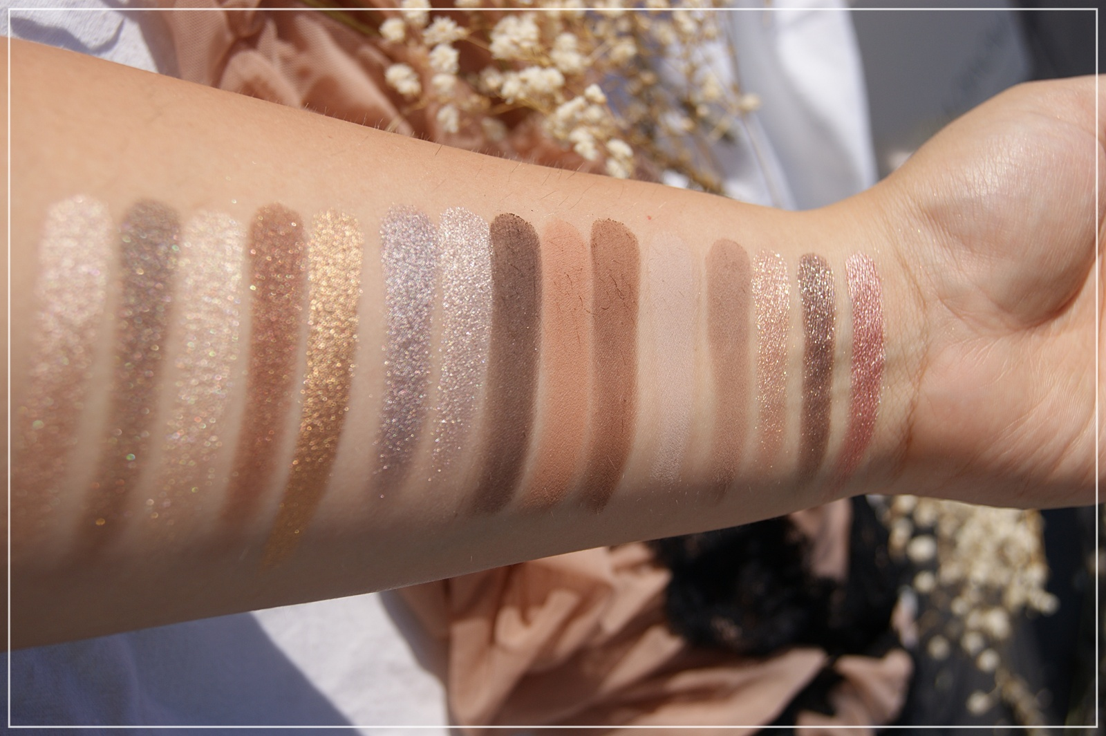 Natasha Denona Glam Palette swatches