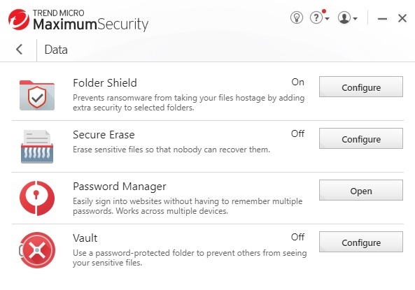 Antivirus software feature