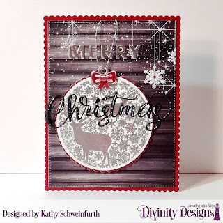 Stamp/Die Duos: Deer Ornament, Custom Dies: Merry Christmas, Scalloped Rectangles, Pierced Rectangles, Scalloped Circles, Paper Collection: Rustic Christmas